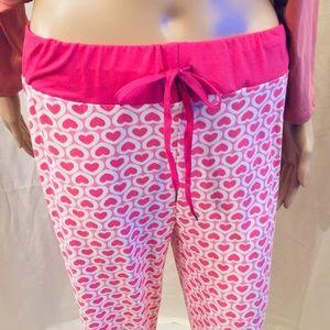 Pink pjs. Pink pjs. Pants.